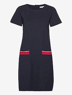 SHIFT PUNTO DRESS SS - midi kjoler - desert sky