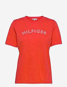 REGULAR C-NK OUTLINE TEE SS - t-shirts - oxidized orange