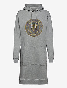 REGULAR TH HOODIE DRESS LS - korte kjoler - light grey heather
