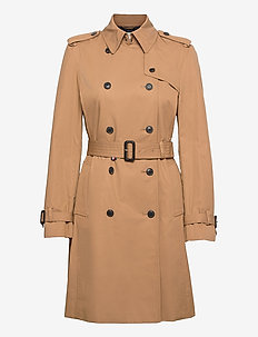 COTTON BLEND DB TRENCH - trench coats - countryside khaki