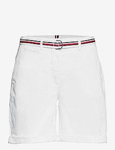 COTTON TENCEL CHINO RW SHORT - chino shorts - white