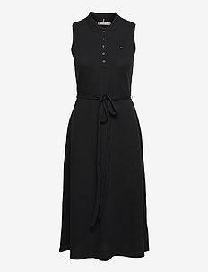 F&F MIDI POLO DRESS NS - everyday dresses - black