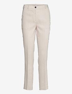 STRETCH LINEN SLIM PANT - slim fit-byxor - white dove