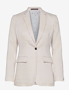STRETCH LINEN SB BLAZER - casual blazers - white dove
