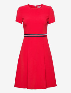 ANGELA FIT & FLARE DRESS SS - summer dresses - primary red