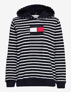 ABO REGULAR FLAG HOODIE - sweatshirts & hoodies - classic brenton stp/ dsrt sky/ wht