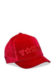 VELVET CAP - 614-TOMMY RED