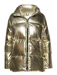 TOMMY ICONS HIGH GLOSS PUFFER - RICH GOLD
