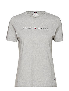 TH ESS HILFIGER CREW - LIGHT GREY HTR