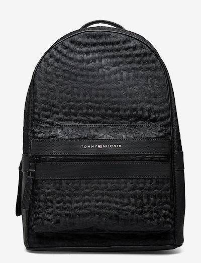 ELEVATED NYLON BACKPACK MONO - väskor - black monogram