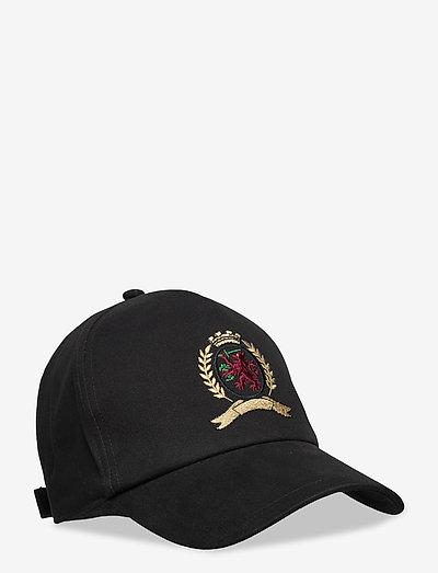 HCM CLASSIC CREST CAP - casquettes - black