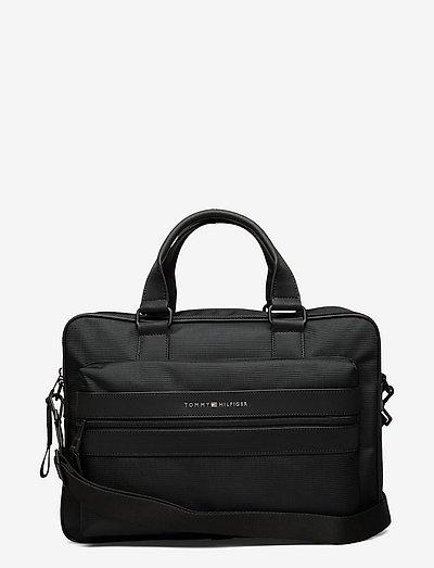 ELEVATED NYLON COMPUTER BAG - laptop-väskor - black
