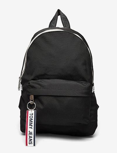TJW LOGO TAPE MINI BACKPACK - väskor - black