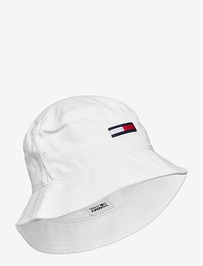 TJW FLAG BUCKET HAT - emmer hoeden - white