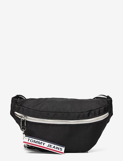 TJW LOGO TAPE BUMBAG - belt bags - black