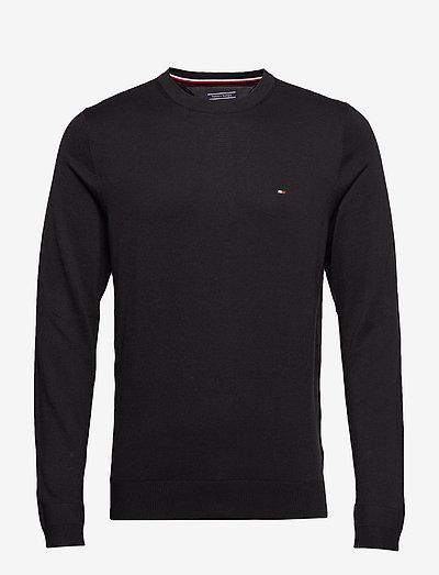 CORE COTTON-SILK CNECK - tricots basiques - flag black