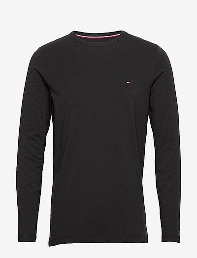 STRETCH SLIM FIT LON - basic t-shirts - black