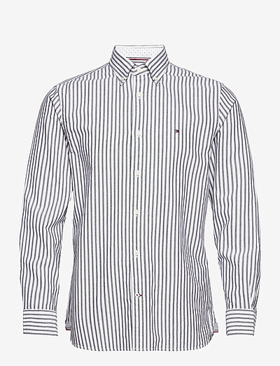 OXFORD STRIPE SHIRT - rutiga skjortor - desert sky / white