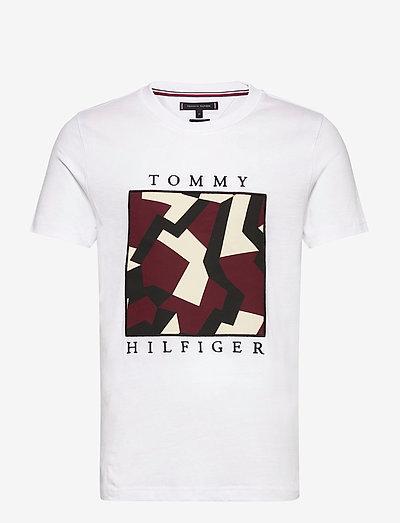 DAZZLE BOX TEE - kortærmede t-shirts - white