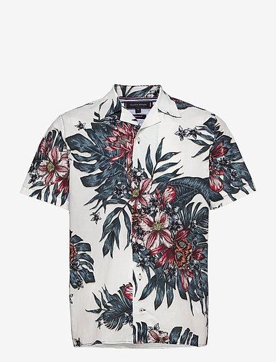 TROPICAL PRINT SHIRT S/S - rutiga skjortor - ecru / mystic lake / multi