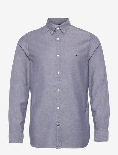 SLIM MELANGE DOBBY SHIRT - basic-hemden - greek isle blue