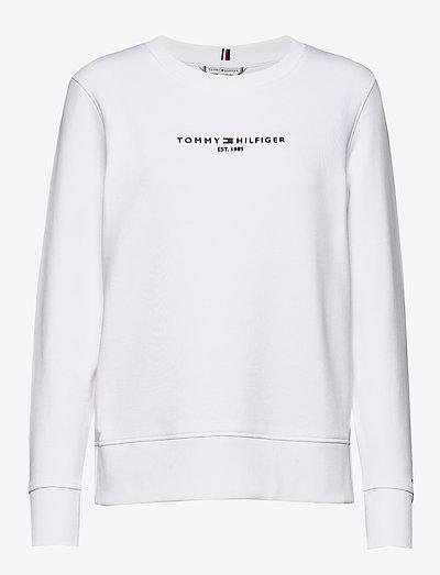 REGULAR HILFIGER C-NK SWEATSHIRT - gensere og hettegensere - white