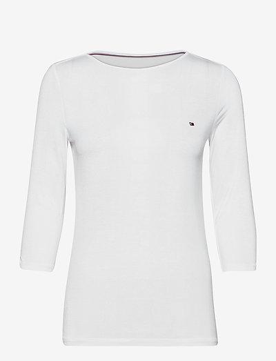 BOAT NECK TEE 3/4 - hauts à manches longues - white