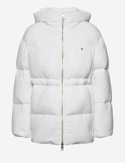 NYLON DOWN PUFFER COAT - vinterjakker - white