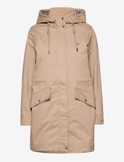 COTTON BLEND PARKA - parka coats - beige