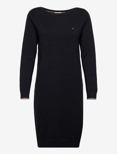 ORG CO SHIFT BOAT-NK KNEE DRESS - sukienki dopasowane - desert sky
