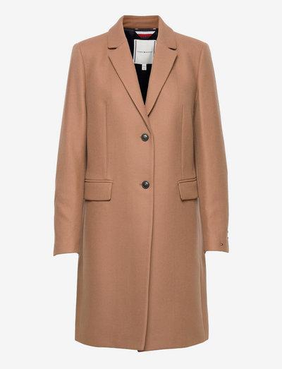 TH ESS WOOL BLEND CLASSIC COAT - wełniane płaszcze - countryside khaki