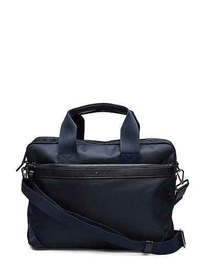 TOMMY HILFIGER Elevated Nylon Computer Bag Laptop-Tasche Tasche Blau TOMMY HILFIGER