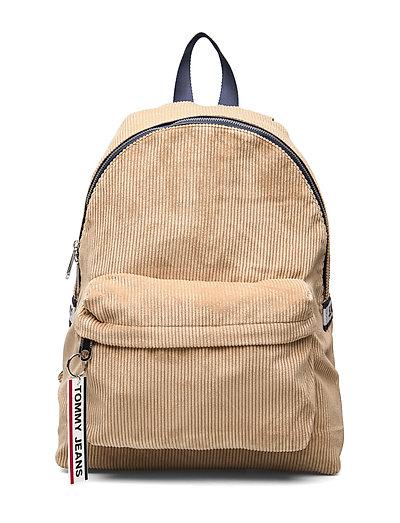 Tjm Logo Tape Backpa Rucksack Tasche Beige TOMMY HILFIGER
