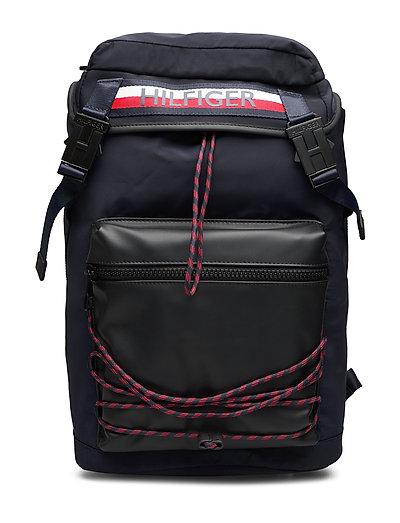 Urban Mix Flap Backpack Rucksack Tasche Schwarz TOMMY HILFIGER