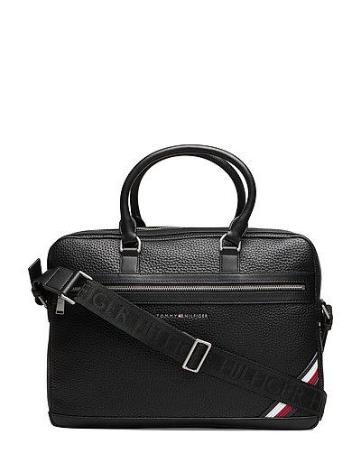 Th Downtown Computer Bag Laptop-Tasche Tasche Schwarz TOMMY HILFIGER