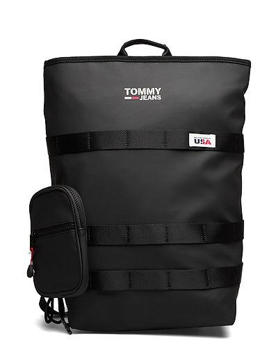 Tjm Casual Utility Backpack Rucksack Tasche Schwarz TOMMY HILFIGER