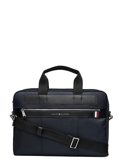 Elevated Nylon Computer Bag Laptop-Tasche Tasche Blau TOMMY HILFIGER