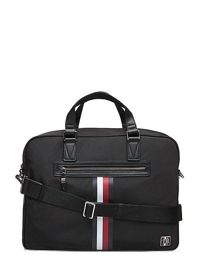 Clean Nylon Computer Bag Laptop-Tasche Tasche Schwarz TOMMY HILFIGER