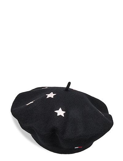 TJW STAR BERET - BLACK MIX