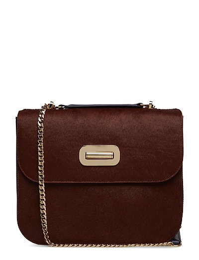 TURN LOCK SATCHEL PO - BURGUNDY/ TOMMY NAVY