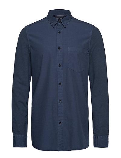 Slim Mixed Pique Shirt Hemd Casual Blau TOMMY HILFIGER