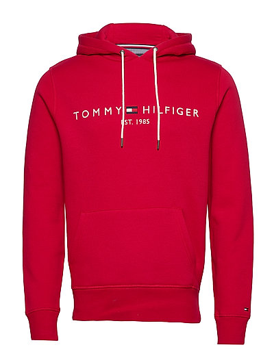 Tommy Logo Hoody Hoodie Pullover Rot TOMMY HILFIGER