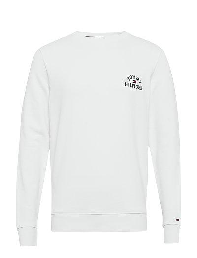 Basic Embroidered Sweatshirt Sweat-shirt Pullover Weiß TOMMY HILFIGER