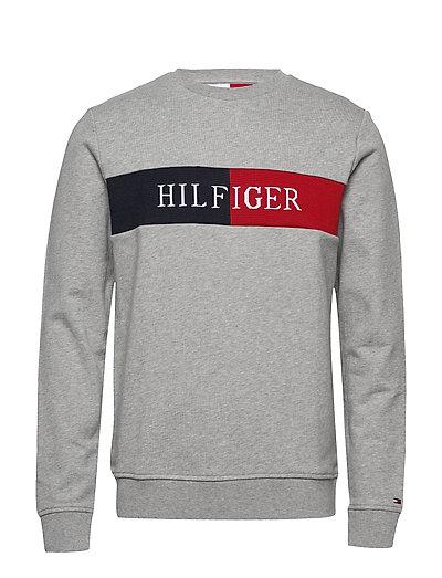 Hilfiger Intarsia Sweatshirt Sweat-shirt Pullover Grau TOMMY HILFIGER