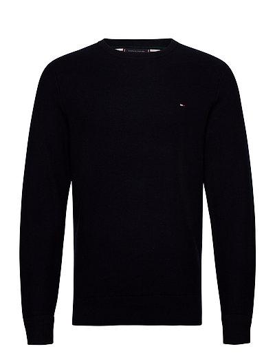 H Ycomb Crew Neck T-Langärmliges Hemd Schwarz TOMMY HILFIGER