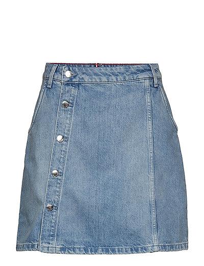 Wrap Skirt Hw Delia Kurzes Kleid Blau TOMMY HILFIGER