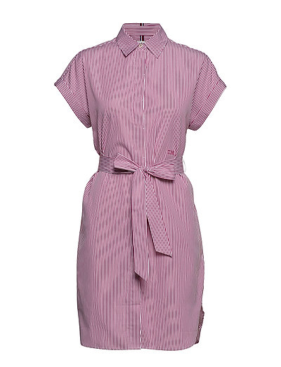 Th Essential Shirt D Kurzes Kleid Pink TOMMY HILFIGER