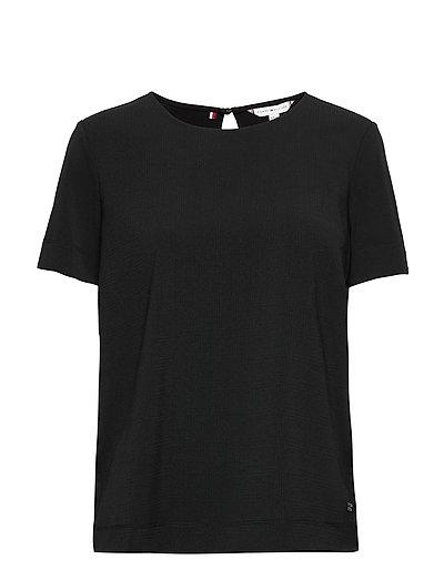 Dolores Blouse Ss T-Shirt Top Schwarz TOMMY HILFIGER