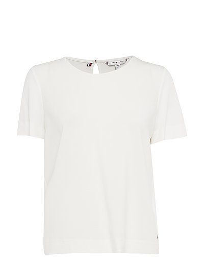 Dolores Blouse Ss T-Shirt Top Weiß TOMMY HILFIGER
