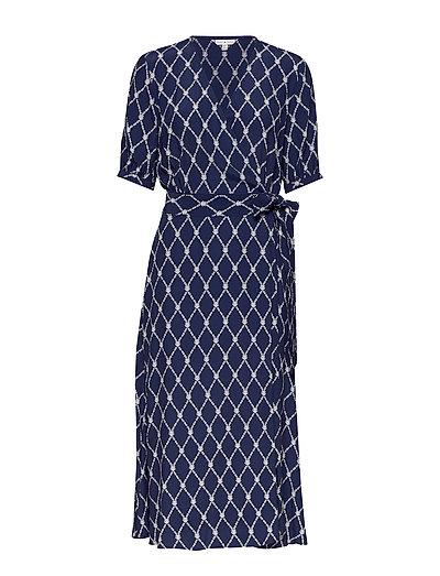 Leonora Wrap Dress Ss Kleid Knielang Blau TOMMY HILFIGER